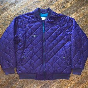 VTG Columbia Radial Sleeve Quilted Jacket Size L